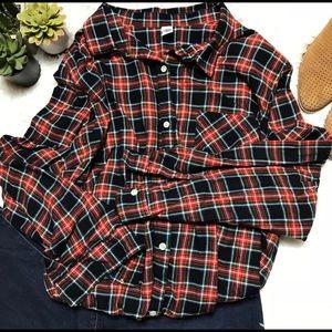 NWOT Plaid Flannel Top